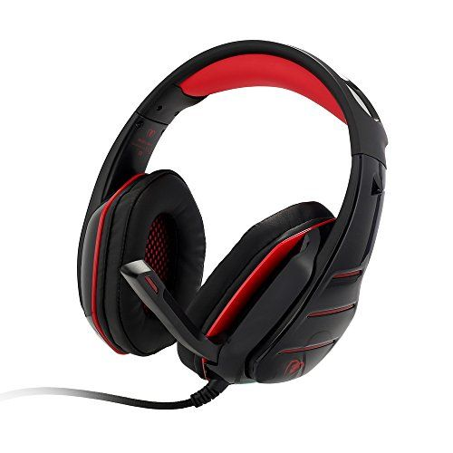 PS4 Headset, PS4 Headphones, PC Gaming Headset with LED light, Over-ear Professinal Gaming Headphones with Mic 3.5mm, Noise Reduction Bass Headsets for PC, Laptops, Tablets and Smartphones.