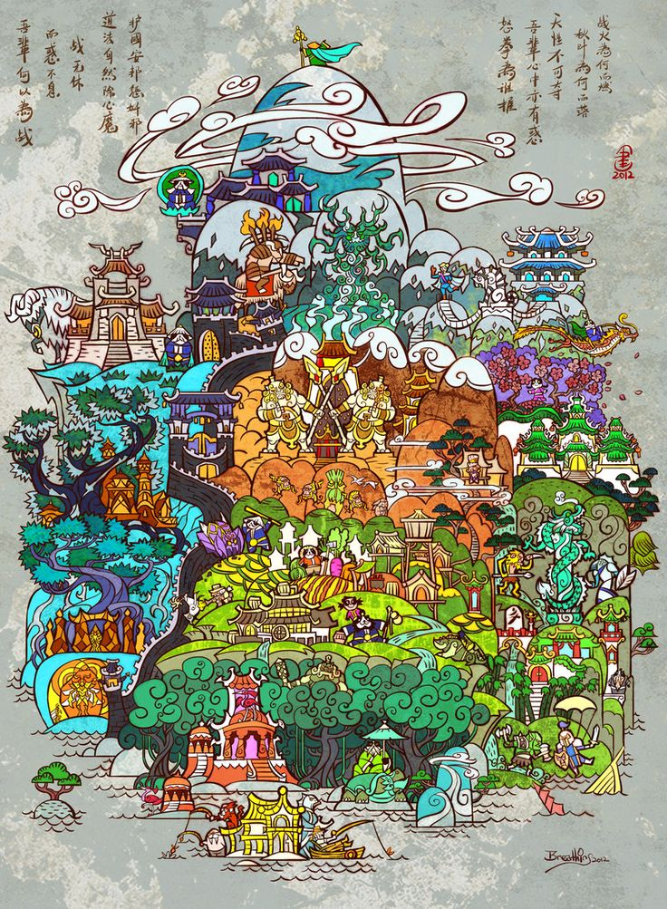 Fan art – Le continent de la Pandarie vu par Jian Guo • Warcraft People