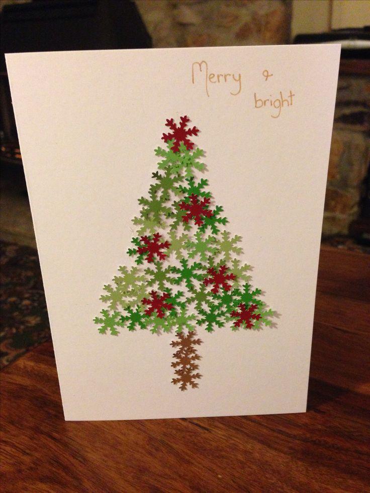 Snowflake punch homemade Christmas card