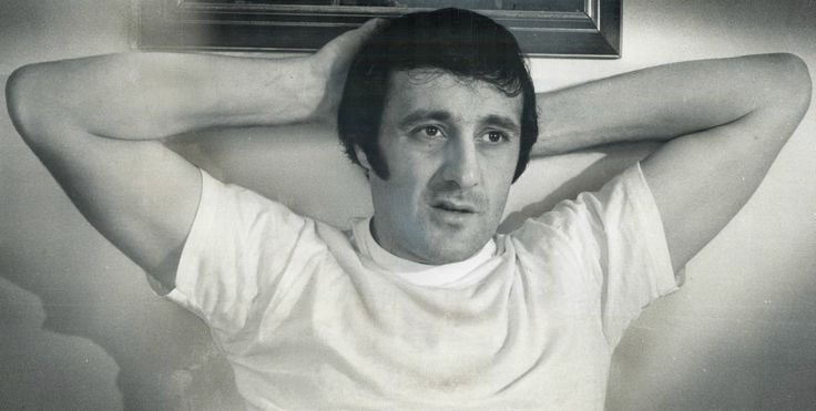 Phil Esposito doing his best Bobby DeNiro impression. As he relaxes away from hockey