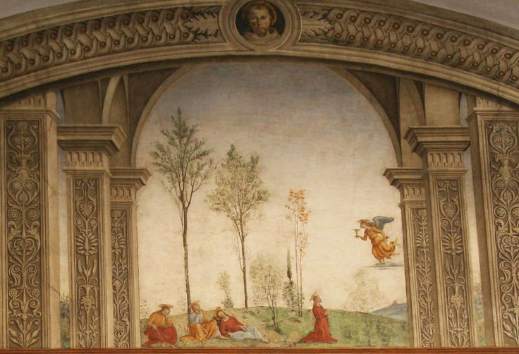 Cenacolo di Fuligno - Firenze - Perugino e la sua scuola - Ultima Cena (dettaglio) - 1493-1496 - affresco: