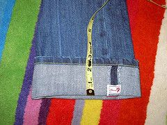 A simple way to hem jeans. So easy, fast, and looks great!