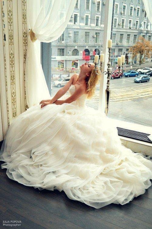 Vestido de novia corte princesa | bodatotal.com | wedding ideas, wedding dress, bride, wedding