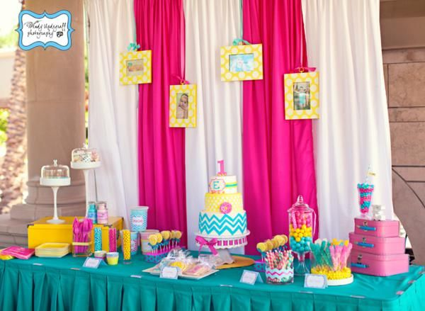 Chevron Print Summer 1st Birthday Party - Kara's Party Ideas - The Place for All Things Party