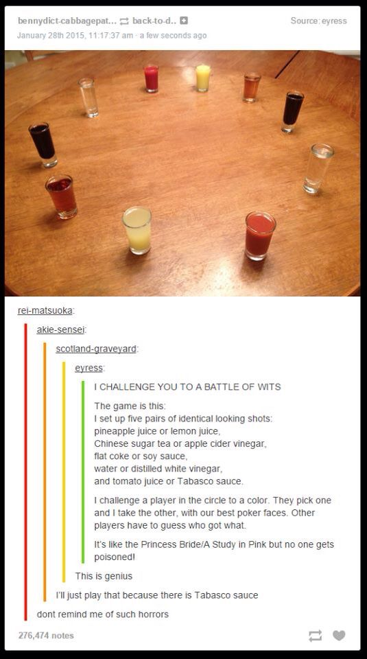 I challenge you to a battle of wits!