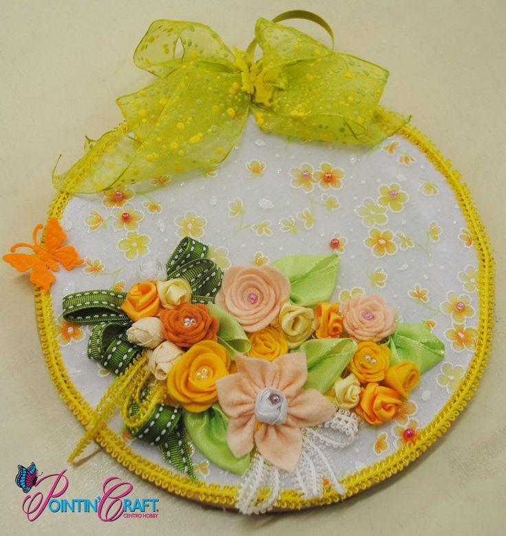 http://www.pointincraft.eu/it/319-primavera-pasqua #pointincraft #pointincrea #sovrapporta #fiori #flowers #colori #green #verde #arancione #orange #rosa #pink #bianco #white #giallo #yellow #creazioni #progetti