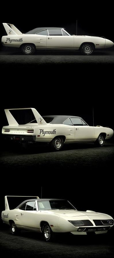 1970 Plymouth Superbird. Outrageous and extreme, this 'aero warrior' was designed to dominate NASCAR. Regulations required 1,920 road cars to be built for the Superbird to be raced, and are highly sought after today.