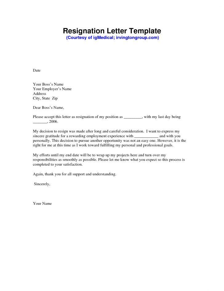 Resignation Letter On Pinterest Explore 50 Ideas With Letter For