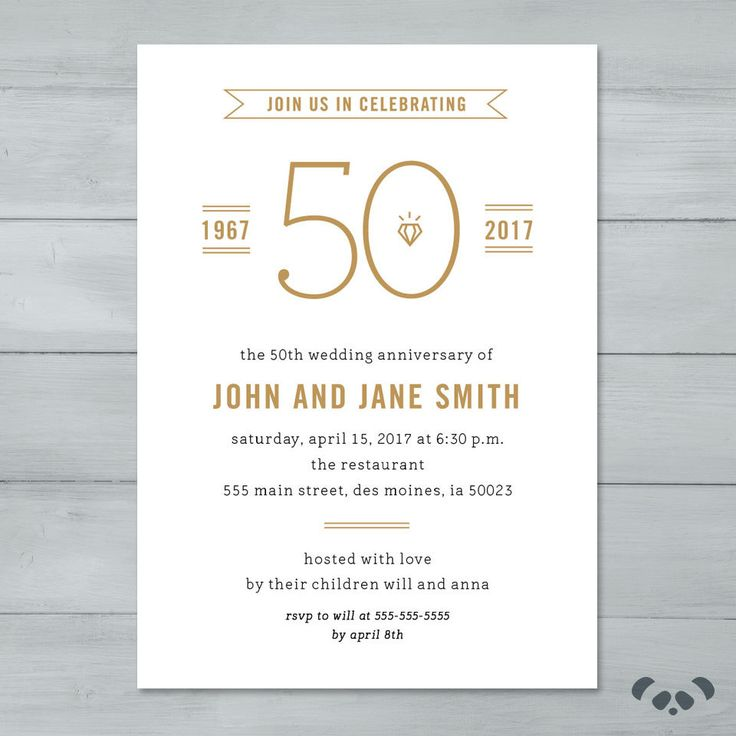25 best ideas about Wedding Anniversary Invitations – Wedding Anniversary Party Invitations