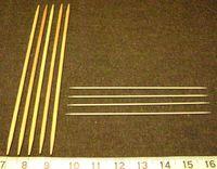 TECHNIQUE - Table de conversion des tailles d'aiguille à tricoter en système métrique - taille américaine - anglaise/canadienne - japonaise.