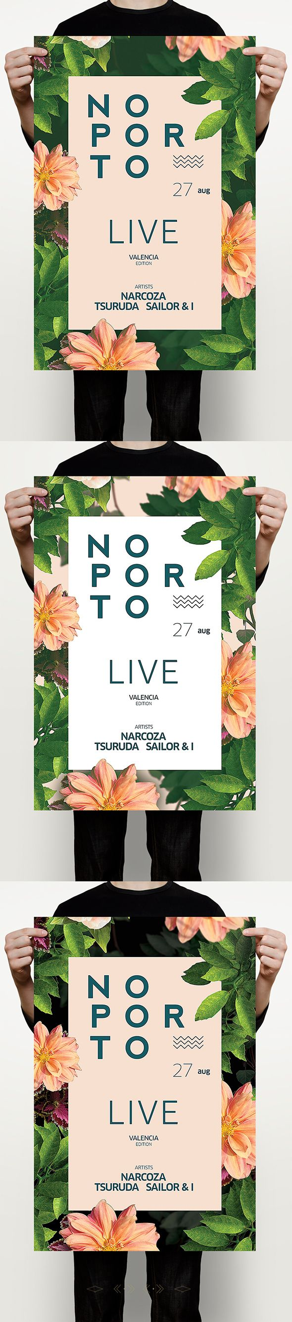 Summer Porto Flyer – This flyer poster template can be used for a summer party, outdoor bar, fashion event, email template, summer sale flyer,flower workshop, beach party, bar and dj event, tropical island theme party, or just for regular summer festivals…