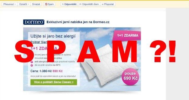 Dormeo.cz opět spamuje e-mail. VÝZVA - Postupujme společně. | IN-MAGAZÍN