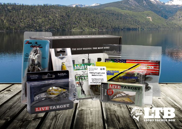 57 best lucky tackle box swag images on pinterest tackle for Monthly fishing box