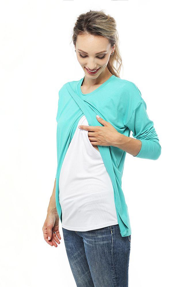✅ Топ с запaхом для беременных и кормящих Уютный топ для беременных из ультра-мягкой вискозы невероятно приятный к телу и легко комбинируется с джинсами, брюками чиносами или спортивными штанами. Что бы ты ни выбрала, топ для беременных можно носить на протяжении всей беременности. После рождения малыша, такой топ станет удобной одеждой для кормящих. Благодаря скрытому доступу, футболка для кормления очень удобна для налаживания лактации, ведь малыша можно незаметно покормить в любой момент…