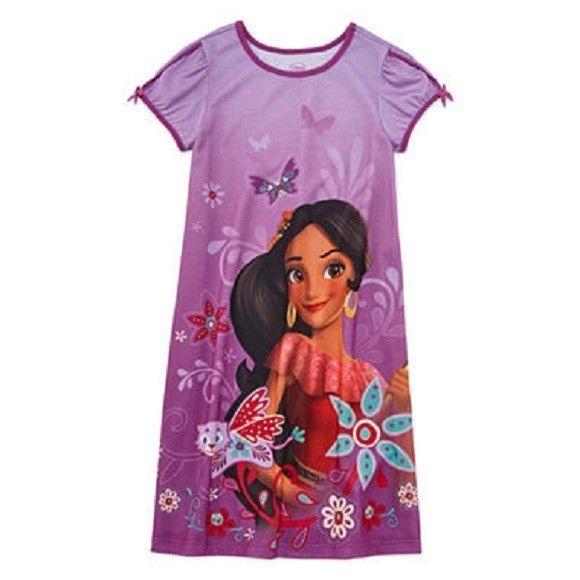 Disney Store Elena of Avalor Nightshirt Pajamas Girls Size 3 4 5//6 7//8 9//10