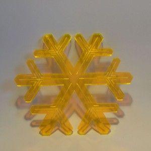 Orange lasercut plexiglass ornaments. Designed and produced in Copenhagen, Denmark.