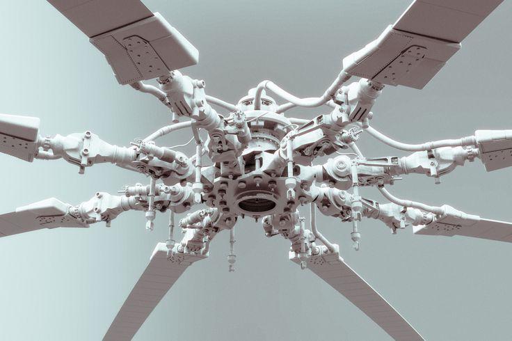 ArtStation - helicopter rotor mush, George Matsikas
