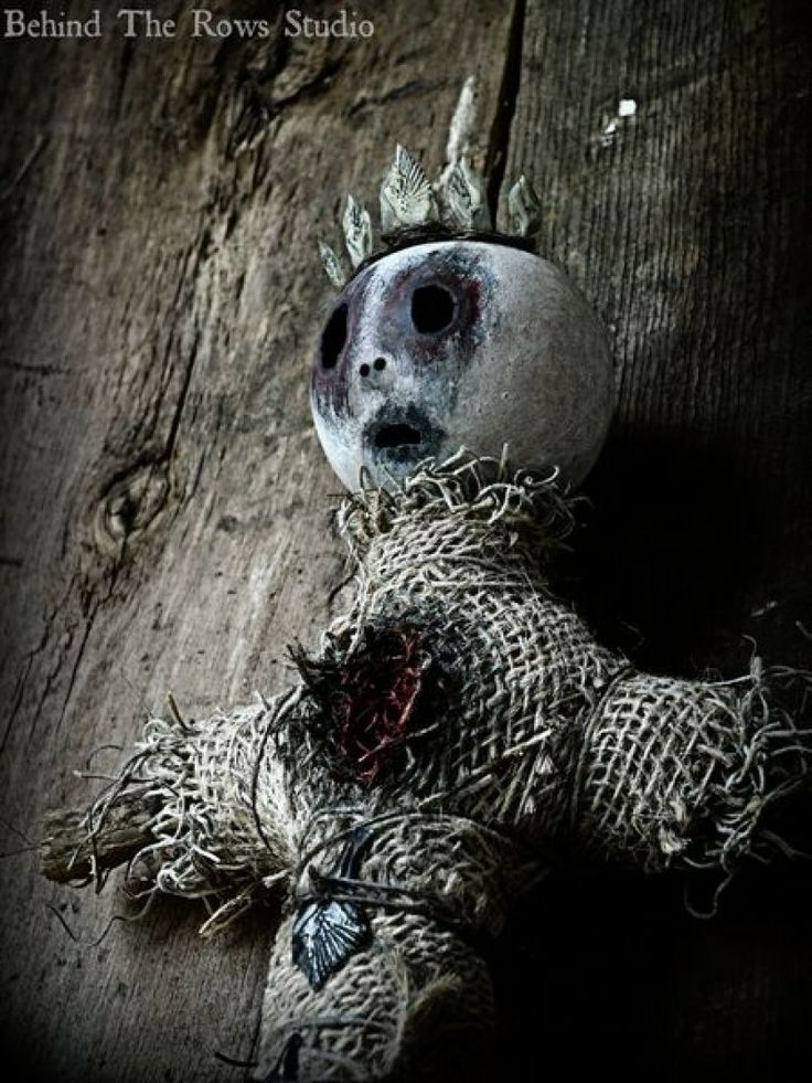 """Super Creepy """"Mambo Jezebella"""" Voodoo Doll for sale by Behind the Rows Studios at MoreThanHorror.com"""