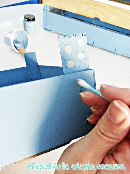 Pintar con chalk paint cajas de frutas hazlo tu mismo - Pintar chalk paint ...