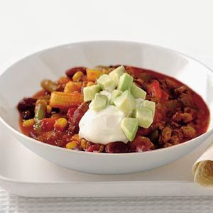 Recept - Vegetarische chili met tortilla's - Allerhande