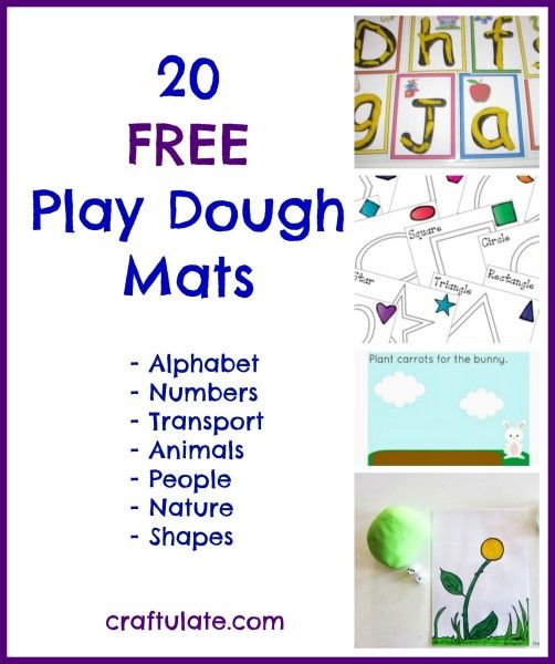 These 20 free play dough mats are from some of my favourite blogs! Includes alphabet, numbers, shapes, animals, transport, nature and people themes.
