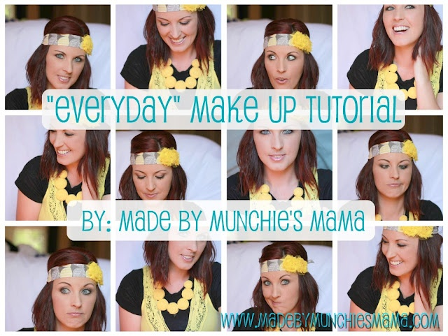 """Step by step """"everyday"""" make up video tutorial by Made By Munchie's Mama.  Includes product info and tips!!!Make Up Tutorial, Makeup"""
