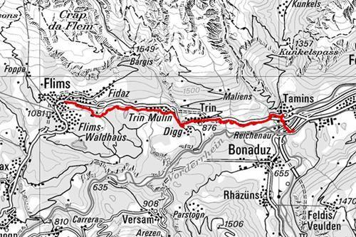 Wanderung: Reichenau - Trin - Flims