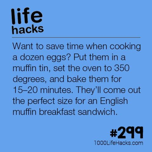 I started cooking eggs in the oven a few years ago after seeing the tip here on Pinterest.  It worked out so well the first time, when I was making eggs benedict for a large group of family members on Christmas morning, that I now only cook eggs this way.