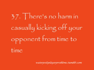 Don't let the referee catch you while doing so though