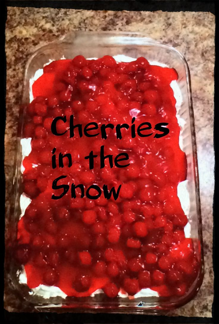 Cherries in the Snow. A quick and easy dessert that tastes ...