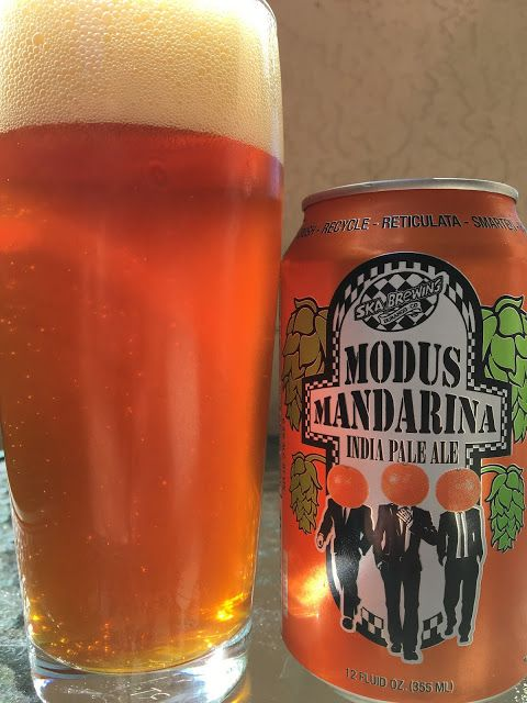 Modus Mandarina India Pale Ale  Big mandarina aroma dominates anything else you might smell. Super juicy flavors, again full of orange flavors. Sweet at the start though that is met with plenty of hoppy goodness alongside some sharp orange rind bitterness. Hints of pine, lightly spicy too, dry at the finish. However, to recap, this is orange IPA gone wild! Orange juicy, orange rind, orange hops, orange can, orange color. Very good beer (yes, I love oranges and manadarinas), though... [more]