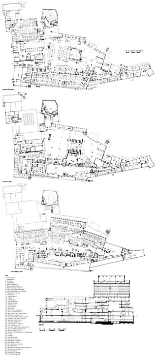 co-zine:  110402 - Some decent plans of Hans Scharoun's Staatsbibliothek in Berlin.
