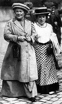 Clara Zetkin et Rosa Luxemburg