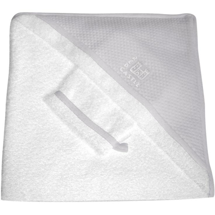 Sortie de bain bébé + gant blanc / gris RedCastle 40€