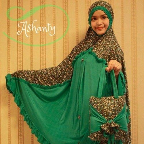 Mukena Cantik Ashanty Hijau, Mukena Terbaru - Muslim Online Shop | Yukbisnis