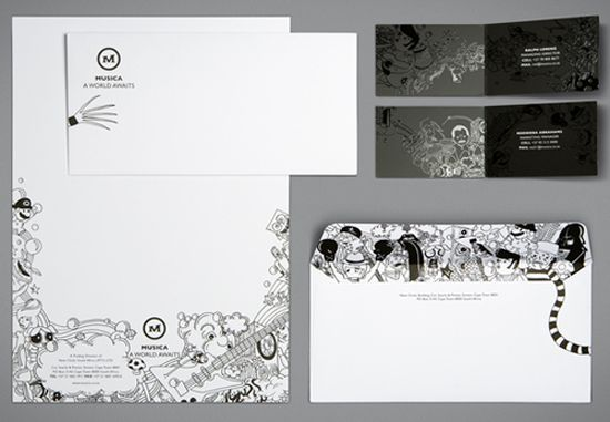 The most amazing corporate identity I've seen all year. Can we talk about the envelope liner? Darth Vader? amazing!