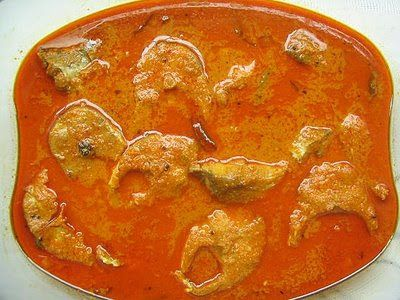 Fish kulambu with  coconut milk. Its very tasty and spicy.