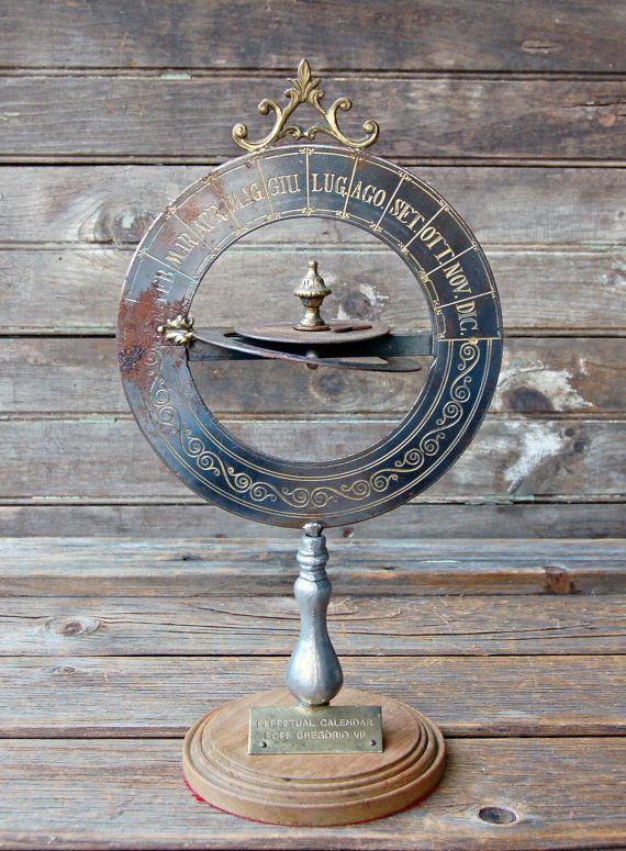 RARE Vintage Perpetual Calendar Pope Gregorio by RootedInVintage