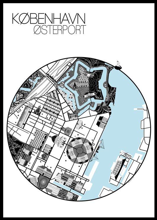 Østerport Poster 50x70