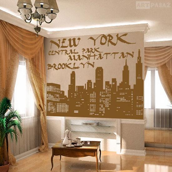 szablon do malowania ścian - Nowy York