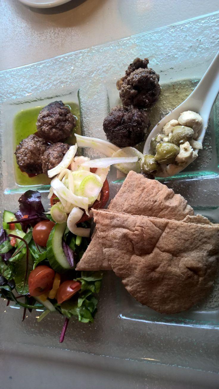 Mediterranean meatballs. The Potting Shed Cafe, Pot House Hamlet, Pennistone.