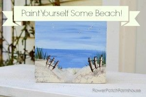 How to paint a simple beach scene, quick and easy, FlowerPatchFarmhouse.com (4 of 6)