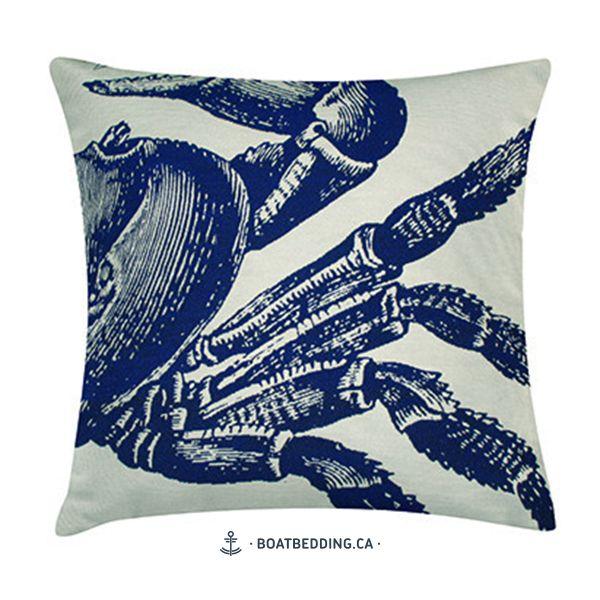 BoatBedding-Crabe-bleu-sur-blanc-20X20