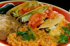 mexican food food: Awesome Food, Steaks Tacos, Tacos Rice, Mr. Tacos, Italian Food, Mexicans Food, Mexicans Recipe, Husband Birthday, Rice And Beans