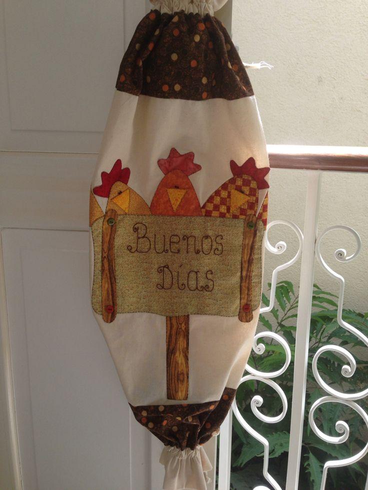 Porta bolsas patchwork