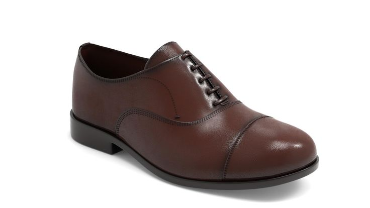 Massimo Dutti brown leather shoe modeled in ZBrush, rendered in KeyShot.