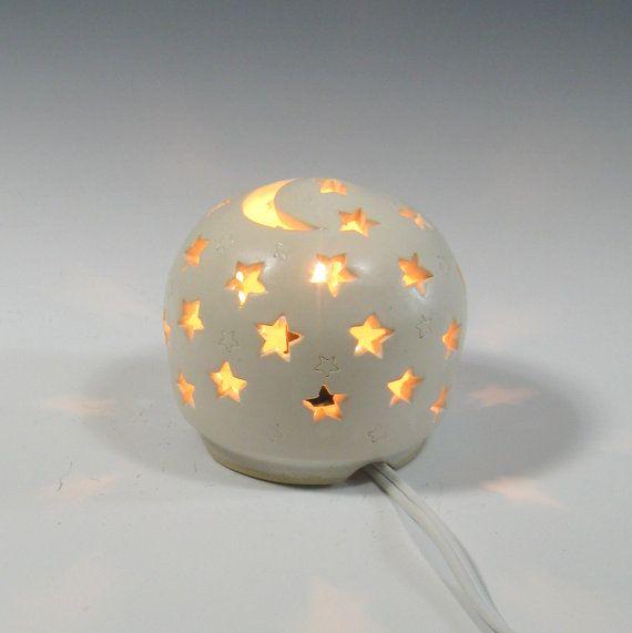 starry nights lamp ceramic night light lighting electric lamp. Black Bedroom Furniture Sets. Home Design Ideas