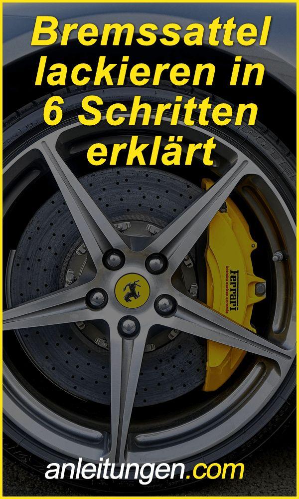 Bremssattel lackieren - Wenn du den Bremssattel an deinem Auto lackieren möchtest, dann solltest du unbedingt diese Anleitung lesen.