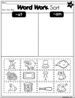 FREE Word Work Sort   Looking for a great word work sort? Be sure to check out this one! My kids enjoy learning word families by sorting words and pictures! Click here to get it!  at word family Grades K-2 lessonplandiva