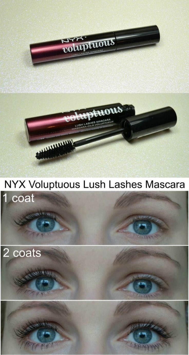 NYX Lush Lashes Voluptuous Mascara review and how it looks on my lashes.  via @beautybymissl